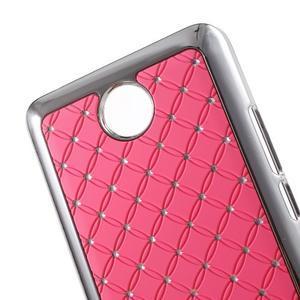 Drahokamový plastový kryt na Huawei Y635 -  růžový - 2