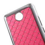 Drahokamový plastový kryt na Huawei Y635 -  růžový - 2/5