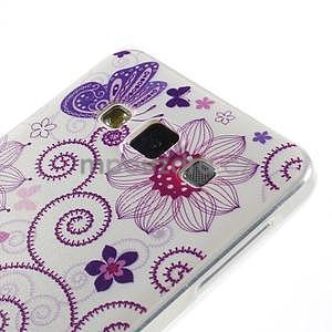 Gelový obal na Samsung Galaxy A3 - motýl a kruhy - 2