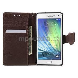 Červené/hnědé PU kožené pouzdro na Samsung Galaxy A5 - 2