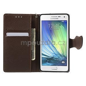 Zelené/hnědé PU kožené pouzdro na Samsung Galaxy A5 - 2