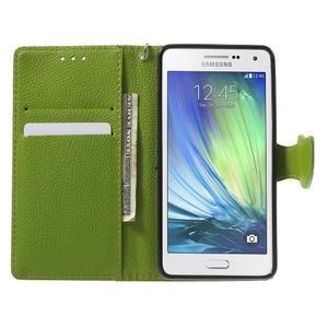 Hnědé/zelené PU kožené pouzdro na Samsung Galaxy A5 - 2