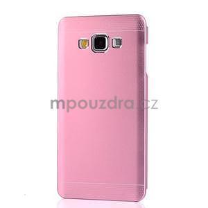 Růžový kovový kryt pro Samsung Galaxy A5 - 2
