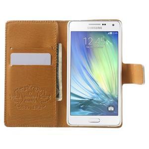 Peněženkové zapínací pouzdro na Samsung Galaxy A5 - kytice - 2