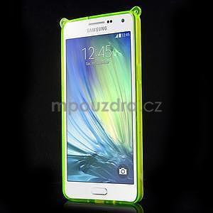Zelený gelový obal s nastavitelným stojánkem na Samsung Galaxy A5 - 2
