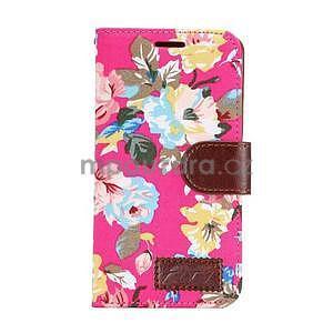 Květinové peněženkové pouzdro na Samsung Galaxy A5 - rose - 2