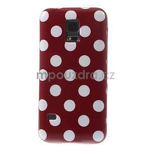 Červený puntíkatý gelový obal na Samsung Galaxy S5 mini - 2