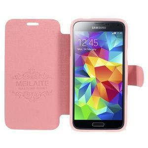 Růžové zapínací pouzdro na Samsung Galaxy S5 mini - 2