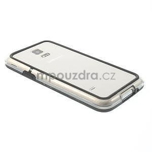 Černý gelový kryt s plastovými lemy na Samsung Galaxy S5 mini - 2