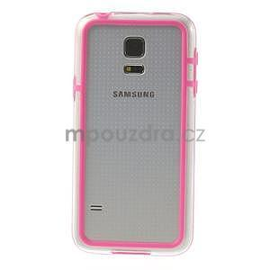 Rose gelový kryt s plastovými lemy na Samsung Galaxy S5 mini - 2