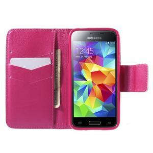 Zapínací peněženkové pouzdro na Samsung Galaxy S5 mini - květinové srdce - 2