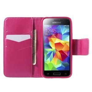 Zapínací peněženkové pouzdro na Samsung Galaxy S5 mini - srdce - 2