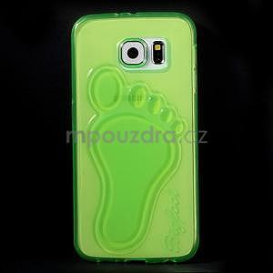 Protiskluzový gelový kryt na Samsung Galaxy S6 - zelený - 2