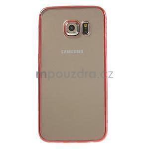Rose hybridní gelový obal na Samsung Galaxy S6 Edge - 2
