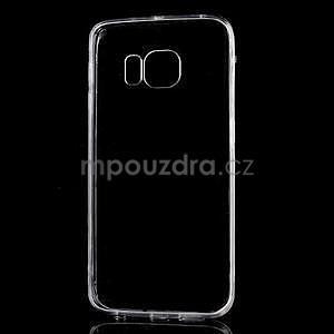 Šedý hybridní gelový obal na Samsung Galaxy S6 Edge - 2