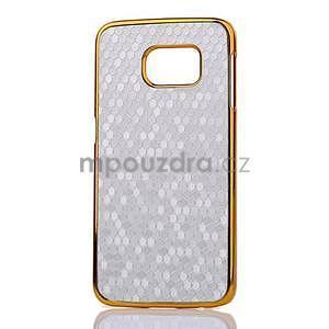 Elegantní plastový kryt na Samsung Galaxy S6 Edge - stříbrný - 2