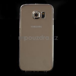 Transparentní hybridní gelový obal na Samsung Galaxy S6 Edge - 2