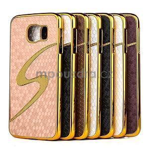 Elegantní plastový kryt na Samung Galaxy S6 - champagne - 2