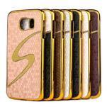 Elegantní plastový kryt na Samung Galaxy S6 - champagne - 2/2