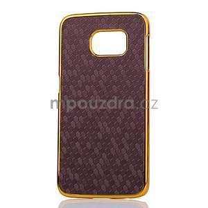 Elegantní plastový kryt na Samsung Galaxy S6 Edge - fialový - 2