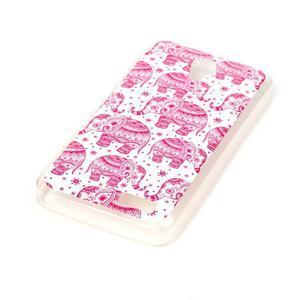 Softy gelový obal na mobil Lenovo A319 - růžoví sloni - 2