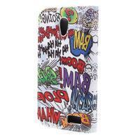Styles peněženkové pouzdro na mobil Lenovo A319 - graffiti - 2/7