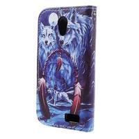 Styles peněženkové pouzdro na mobil Lenovo A319 - vlci - 2/6