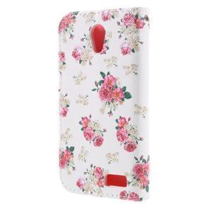 Styles peněženkové pouzdro na mobil Lenovo A319 - květiny - 2