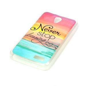 Softy gelový obal na mobil Lenovo A319 - nepřestávej snít - 2