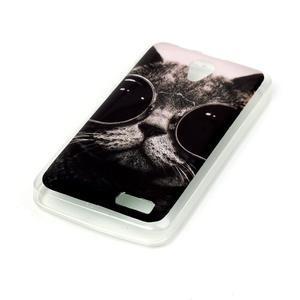 Softy gelový obal na mobil Lenovo A319 - cool kočka - 2