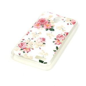Softy gelový obal na mobil Lenovo A319 - květiny - 2