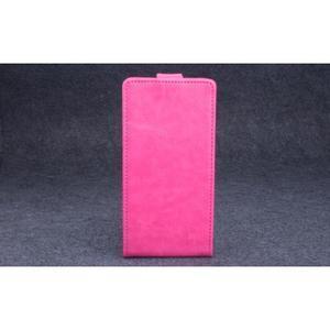 PU kožené flipové pouzdro na Lenovo A536 - rose - 2