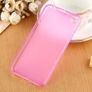 Matný gelový obal na mobil Lenovo S60 - růžový - 2