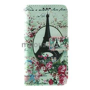 PU kožené peněženkové pouzdro na Lenovo S850 - Eiffelova věž - 2