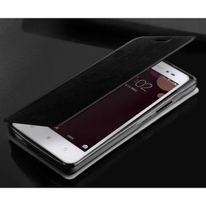 Moof PU kožené pouzdro na mobil Lenovo S90 - černé - 2