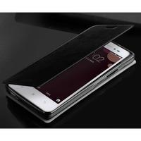 Moof PU kožené pouzdro na mobil Lenovo S90 - černé - 2/5