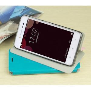 Moof PU kožené pouzdro na mobil Lenovo S90 - modré - 2