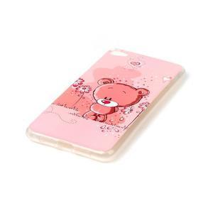 Glossy gelový obal na mobil Lenovo S90 - medvídek - 2