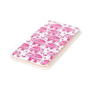 Glossy gelový obal na mobil Lenovo S90 - červení sloni - 2