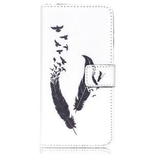 Style peněženkové pouzdro na mobil Lenovo S90 - ptačí peříčka - 2