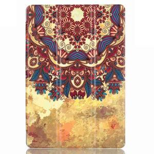 Polohovatelné pouzdro na tablet Lenovo Tab 2 A10-70 - vintage květiny - 2
