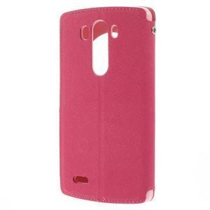Diary pouzdro s okýnkem na mobil LG G3 - rose - 2