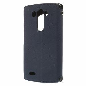 Diary pouzdro s okýnkem na mobil LG G3 - tmavěmodré - 2
