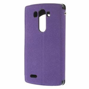 Diary pouzdro s okýnkem na mobil LG G3 - fialové - 2