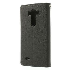 Goos peněženkové pouzdro na LG G3 - černé - 2