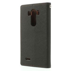 Goos peněženkové pouzdro na LG G3 - černé/hnědé - 2