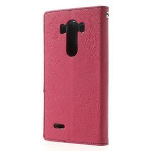 Goos peněženkové pouzdro na LG G3 - rose - 2