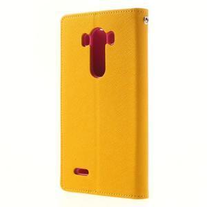 Goos peněženkové pouzdro na LG G3 - žluté - 2