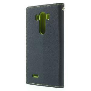 Goos peněženkové pouzdro na LG G3 - tmavěmodré - 2