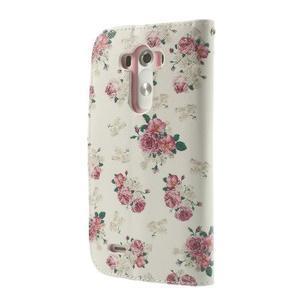 Ultra motive peněženkové pouzdro na LG G3 - květiny - 2